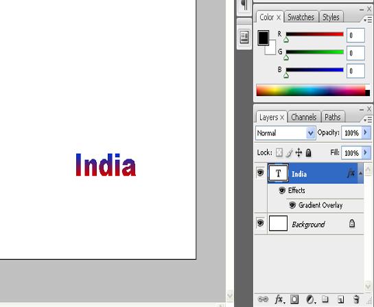 add text gradient in photoshop