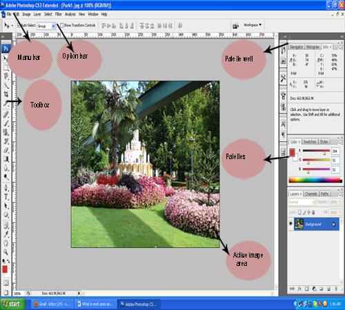 photoshop workarea